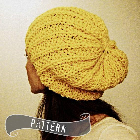 Slouch hat PATTERN Shaker hat beanie beret PDF | Pinterest | Gorros ...