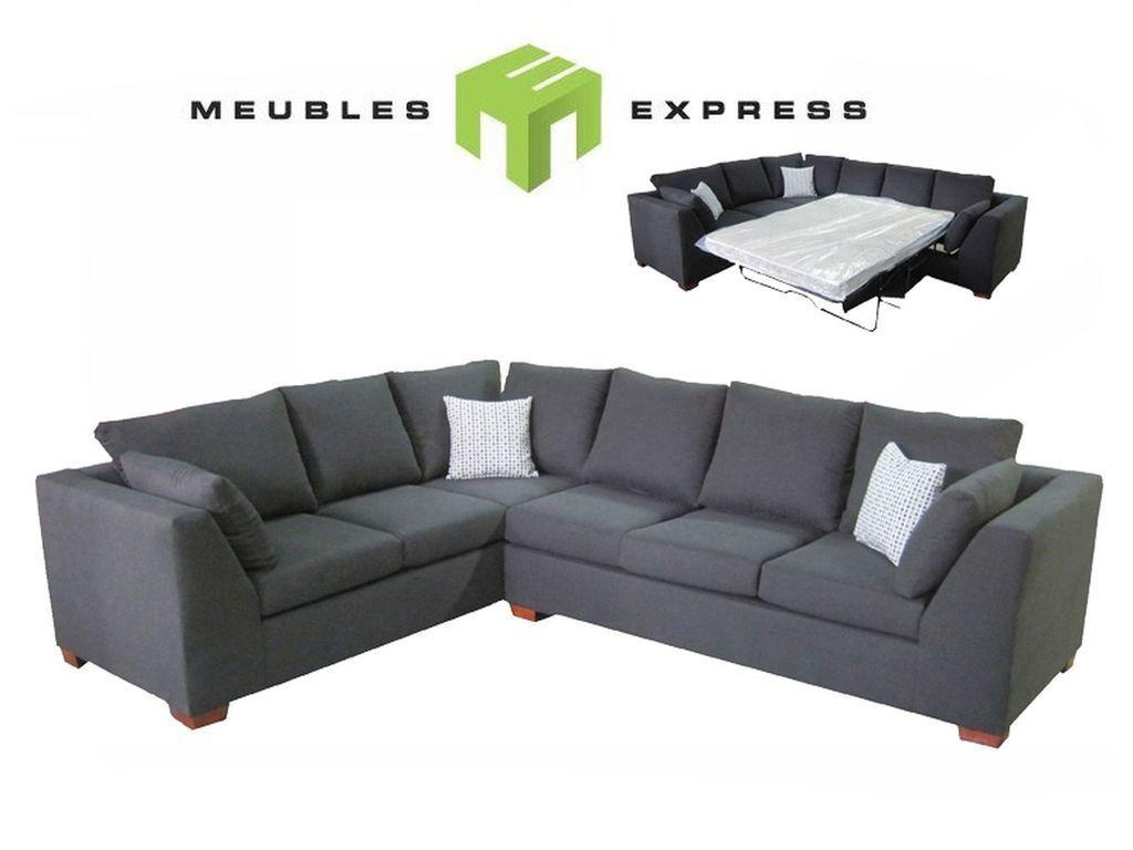 Divan Lits : Sofa sectionnel 6 places avec lit double divan pinterest lits