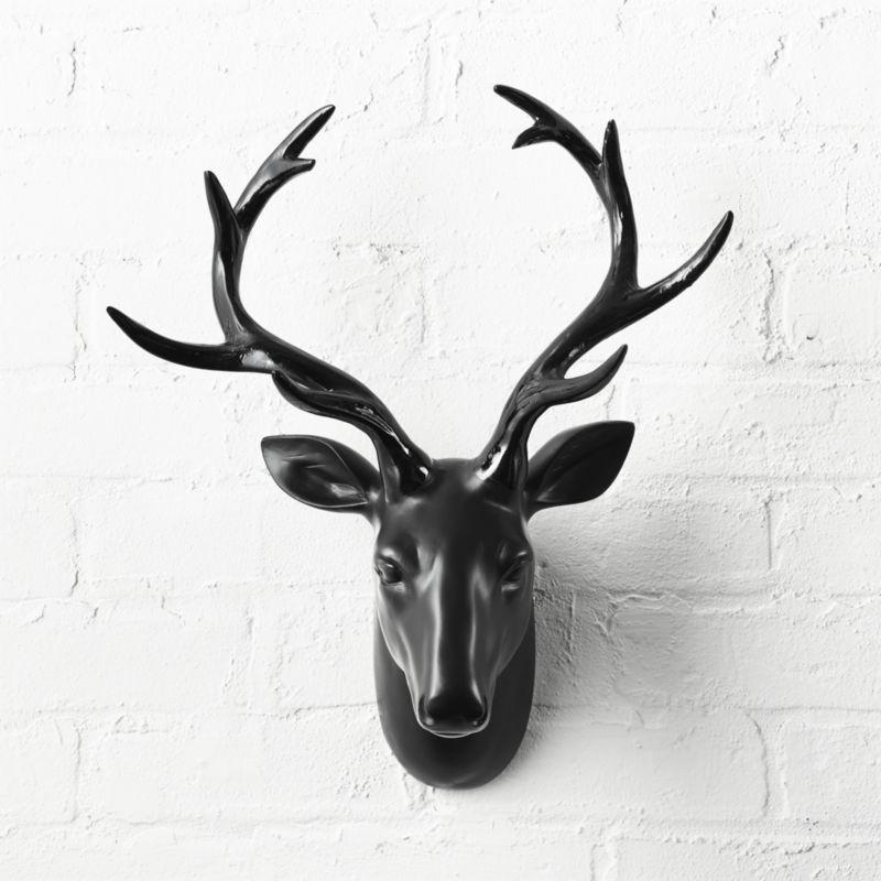 Best Value Here Wall Stag Head Ornament Rustic Brown Resin Deer Reindeer Hanging Sculpture Decor Figure