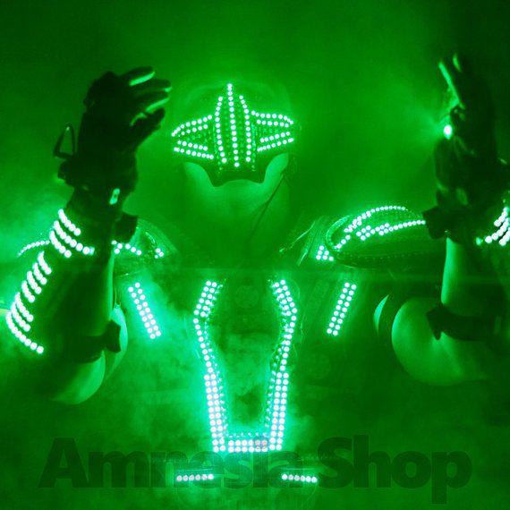 LED Mask, Rave Mask, Party Mask, Led Costumes, Festival Mask, Face ...