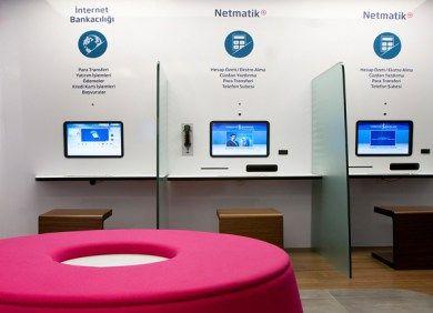 Isbank Brand Identity Bank interior design, Bank design