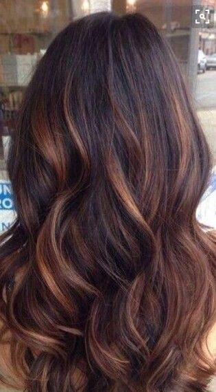 Chocolate Brown With Copper Highlights Clip In Hair Extensions