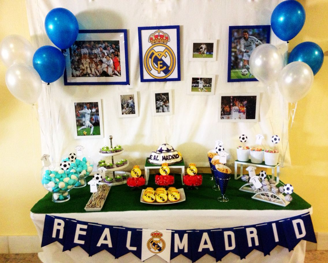 Candybar real madrid decoracion eventos pinterest for Decoracion en madrid