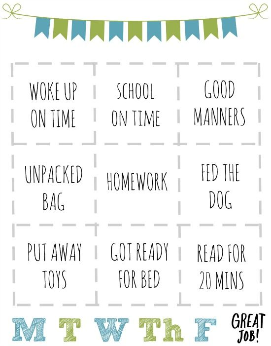 Printable Rewards Chart for Kids Kids \ Learning Pinterest - printable rewards charts