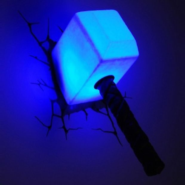 3d wall art thor hammer nightlight favourite hero 3d wall art thor hammer nightlight aloadofball Image collections