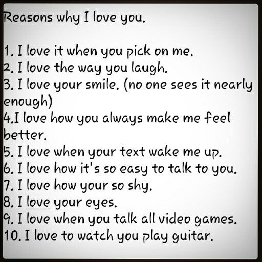 10 Reasons Why I Love You Reasons Why I Love You Why I Love You Reasons I Love You