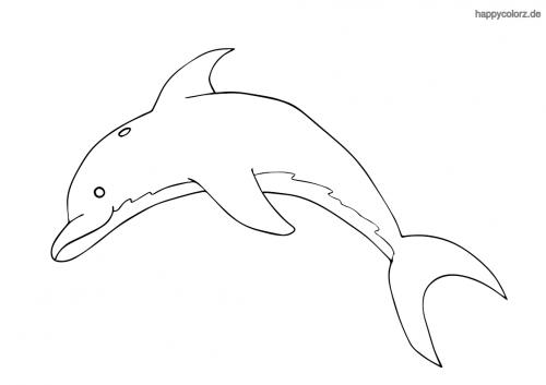Einfacher Delfin Ausmalen Ausmalbilder Zum Ausdrucken Kostenlos Ausmalen Ausmalbilder