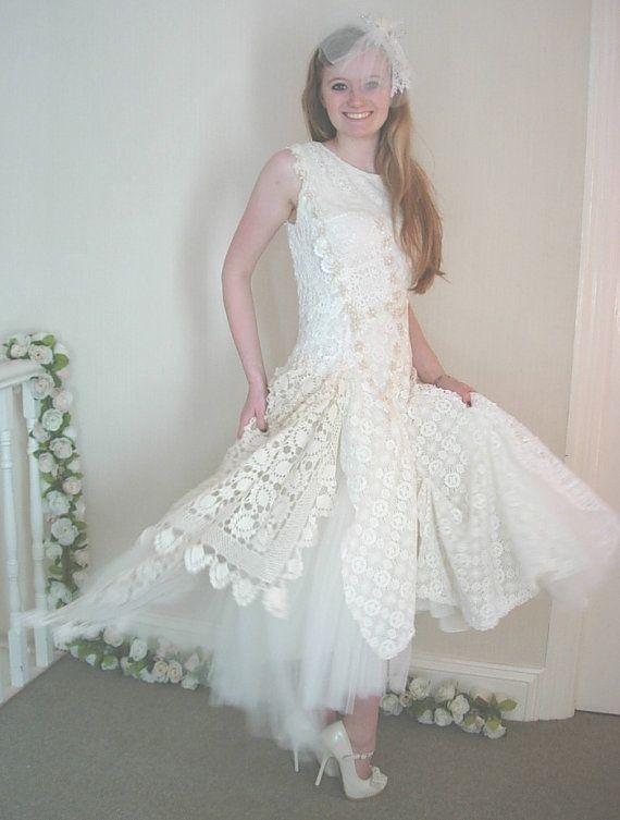 Vintage Crochet - Handmade Alternative Bridal Gown - Nathalie ...