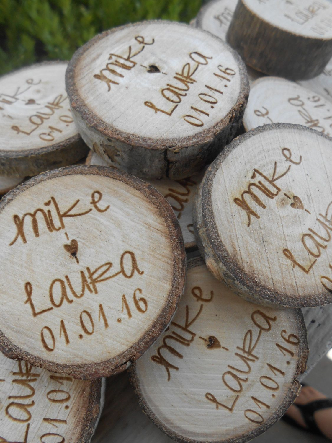 25 personalized initials wood rounds laser cut rustic wedding 25 personalized initials wood rounds laser cut rustic wedding vase filler confetti reviewsmspy