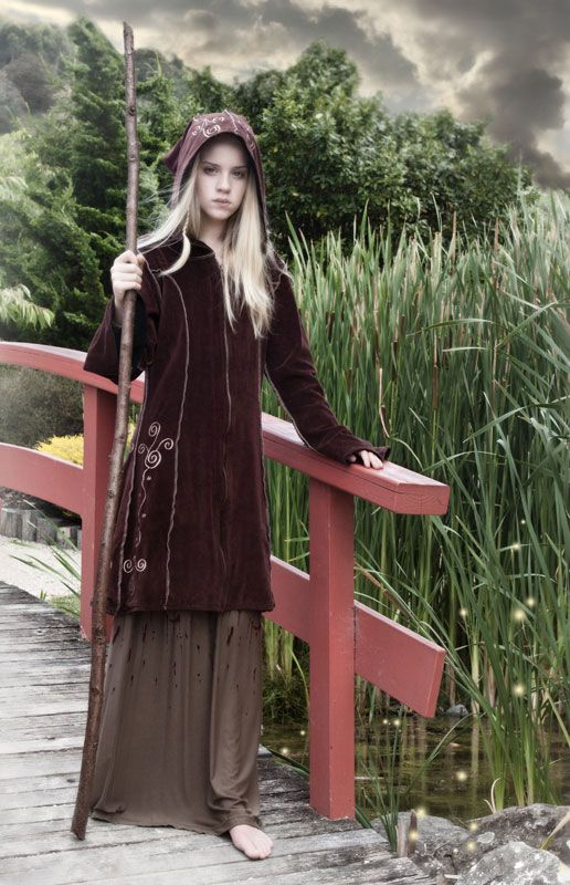 464 - Embroidered Pixie Coat - Gothic, romantic, steampunk clothing from The Dark Angel