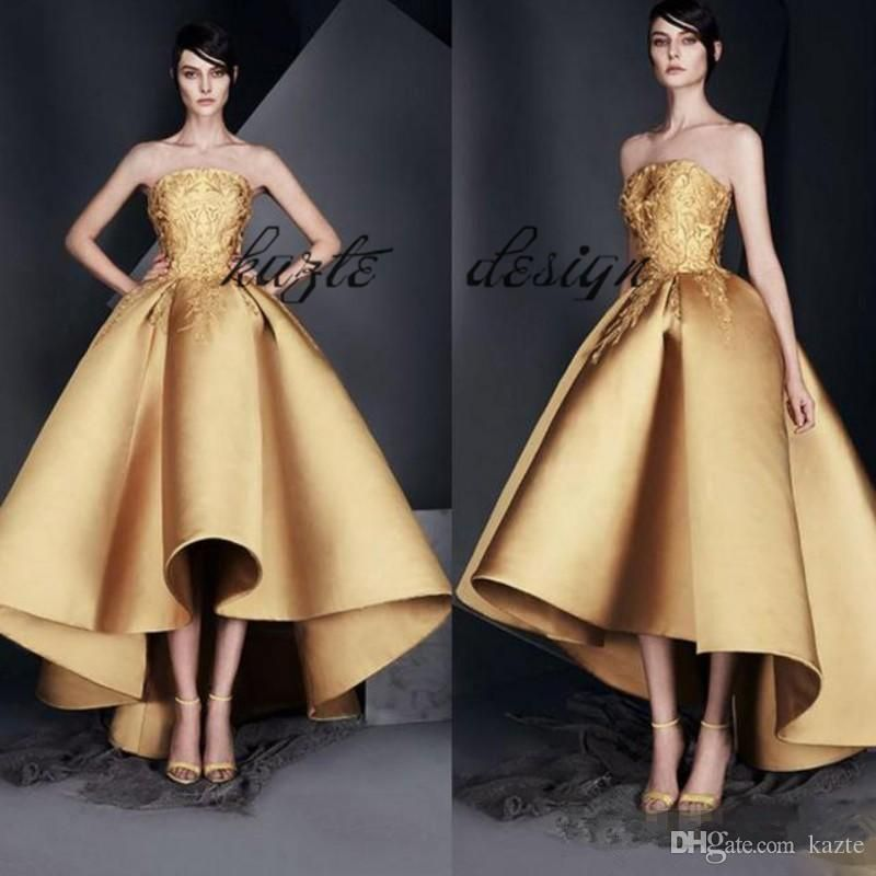 8c66f9fd9 ... Prom Formal Dresses in High Low Style 2018 Ashi Studio Strapless Puffy  Skirt Dubai Arabic Occasion Evening Wear Mermaid Wedding Dress Long Sleeve  ...