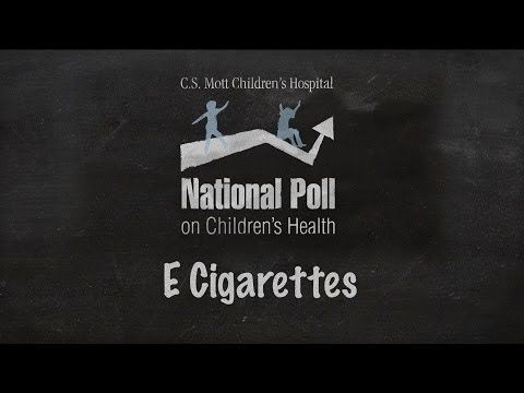 Adults nationwide are concerned about the use of e-cigarettes by children and teens, with 44 percent indicating worries that the devices will encourage kids to use tobacco products, according to a new poll from the University of Michigan.