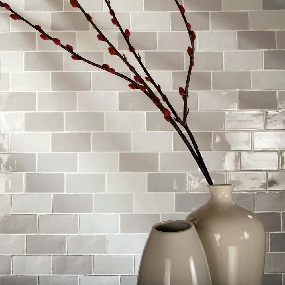 Merola Tile Antic Craquelle Gris Mix 3 in. x 6 in. Ceramic Wall Tile ...