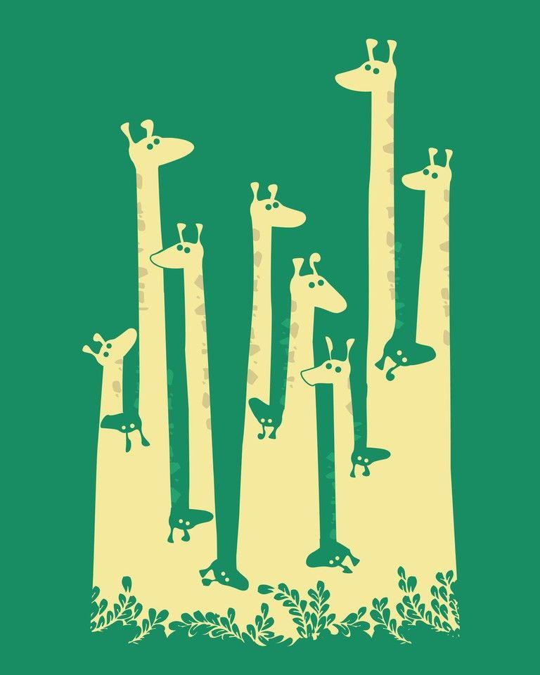 giraffes #illustration