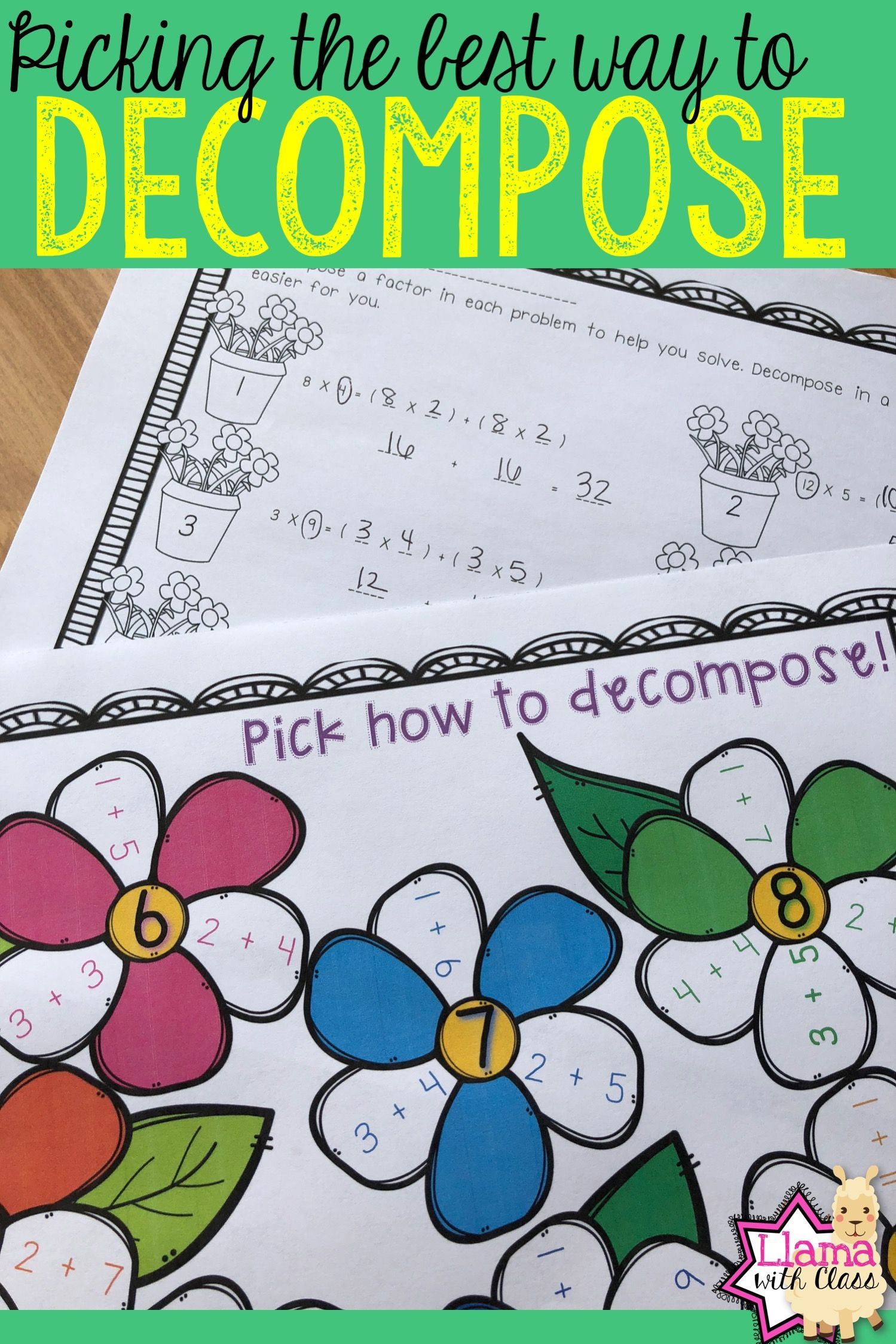 Decompose Factors With The Distributive Property Of