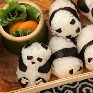 Panda sushi... almost too cute to eat!