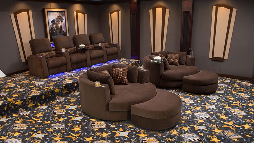 Swivel Cuddle Chair Complete Theater Design Home Sweet Home