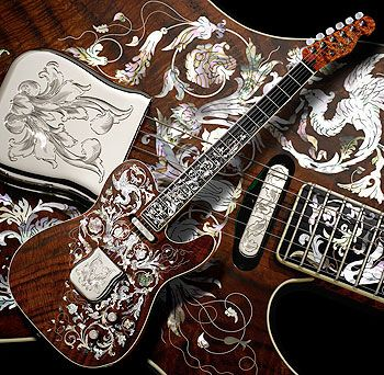 birdflower telecaster took 3 years to make by yuriy shishkov beautiful guitars fender. Black Bedroom Furniture Sets. Home Design Ideas