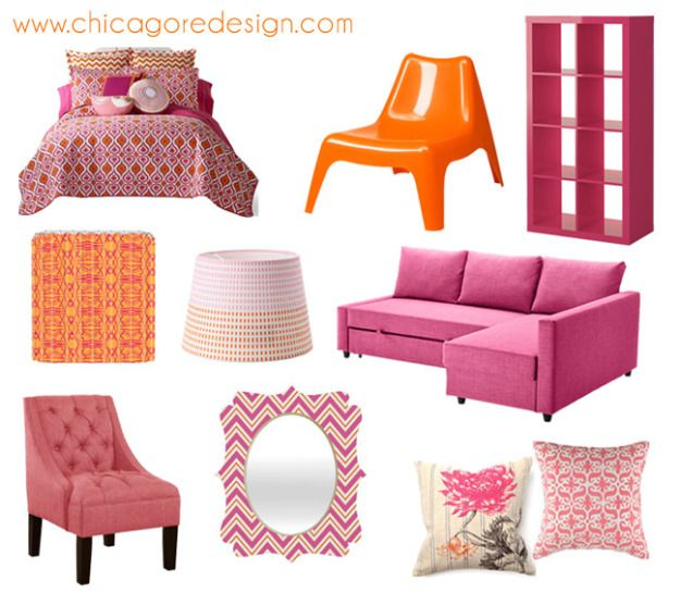Hot Color Combo: Pink + Orange   Chicago ReDesign   Color ...