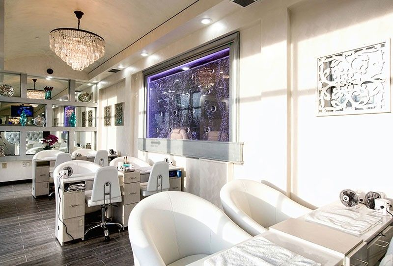 Our pedicure room has a flat screen television and a beautiful ...