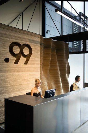Waving Background Reception Desk Office Design Office Interior Design