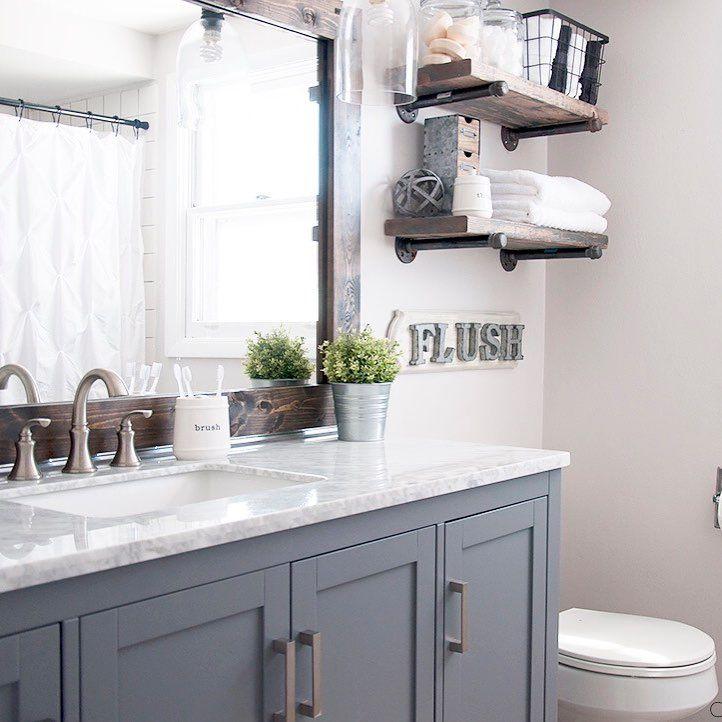 Rustic Farmhouse Bathroom Ideas: Wayfair (@wayfair) On Instagram
