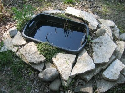 Marvelous Small Garden Pond Out Of Plastic Containers   Did This One Year And Added A  Few