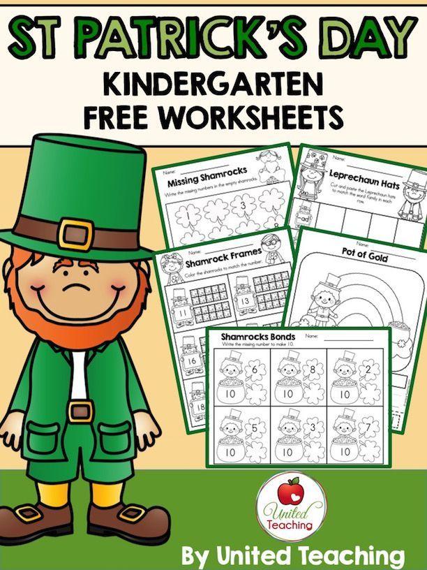 St Patrick\'s Day Kindergarten Worksheets Freebie | printables ...