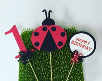 Baby Shower Decor Clearance ~ Items similar to clearance ladybug centerpiece topiary birthday