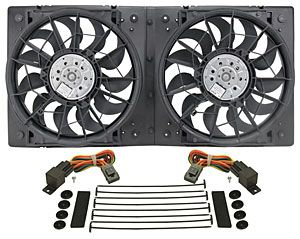 Derale High Output Dual Fan Assembly Cfm 4000 Electric Cooling