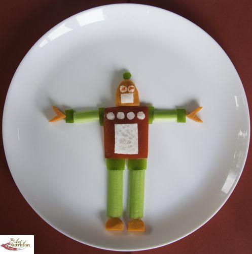 Fun Salad Robot - Fun, healthy, creative food for kids big and small