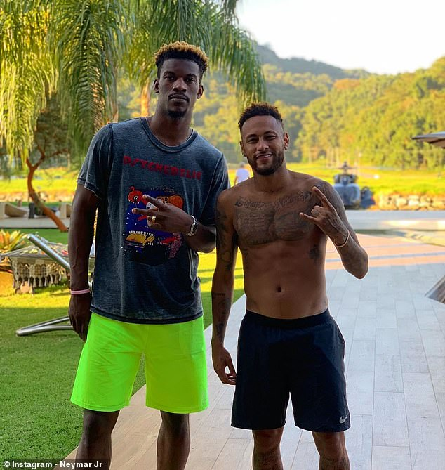 PSG ace Neymar hangs out with NBA star Jimmy Butler in