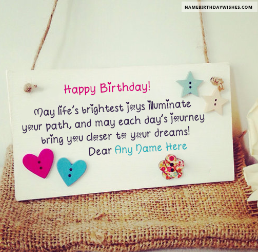 Happy birthday greetings card with name hbd wishes pinterest happy birthday greetings card with name bookmarktalkfo Image collections