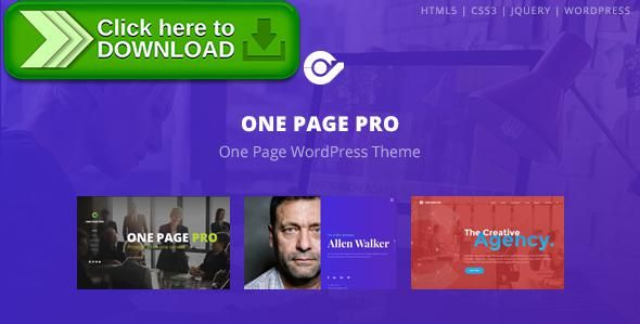 free nulled one page pro multi purpose onepage wordpress theme