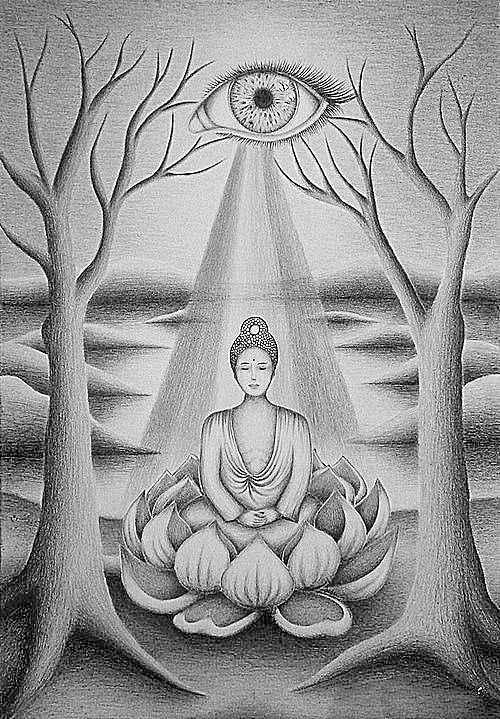 volwassen kleurplaat boeddha