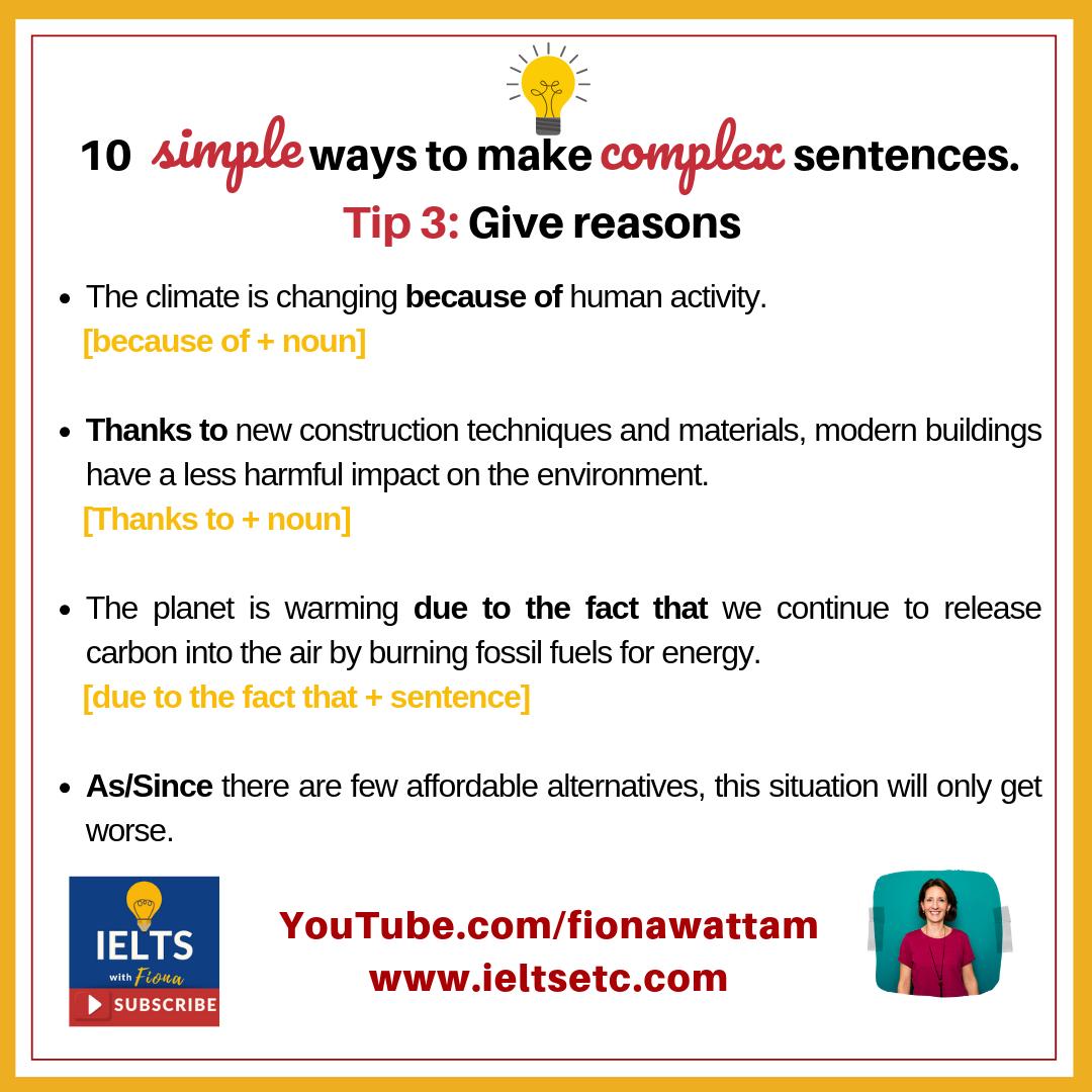 Grammar For Ielts How To Write Complex Sentences