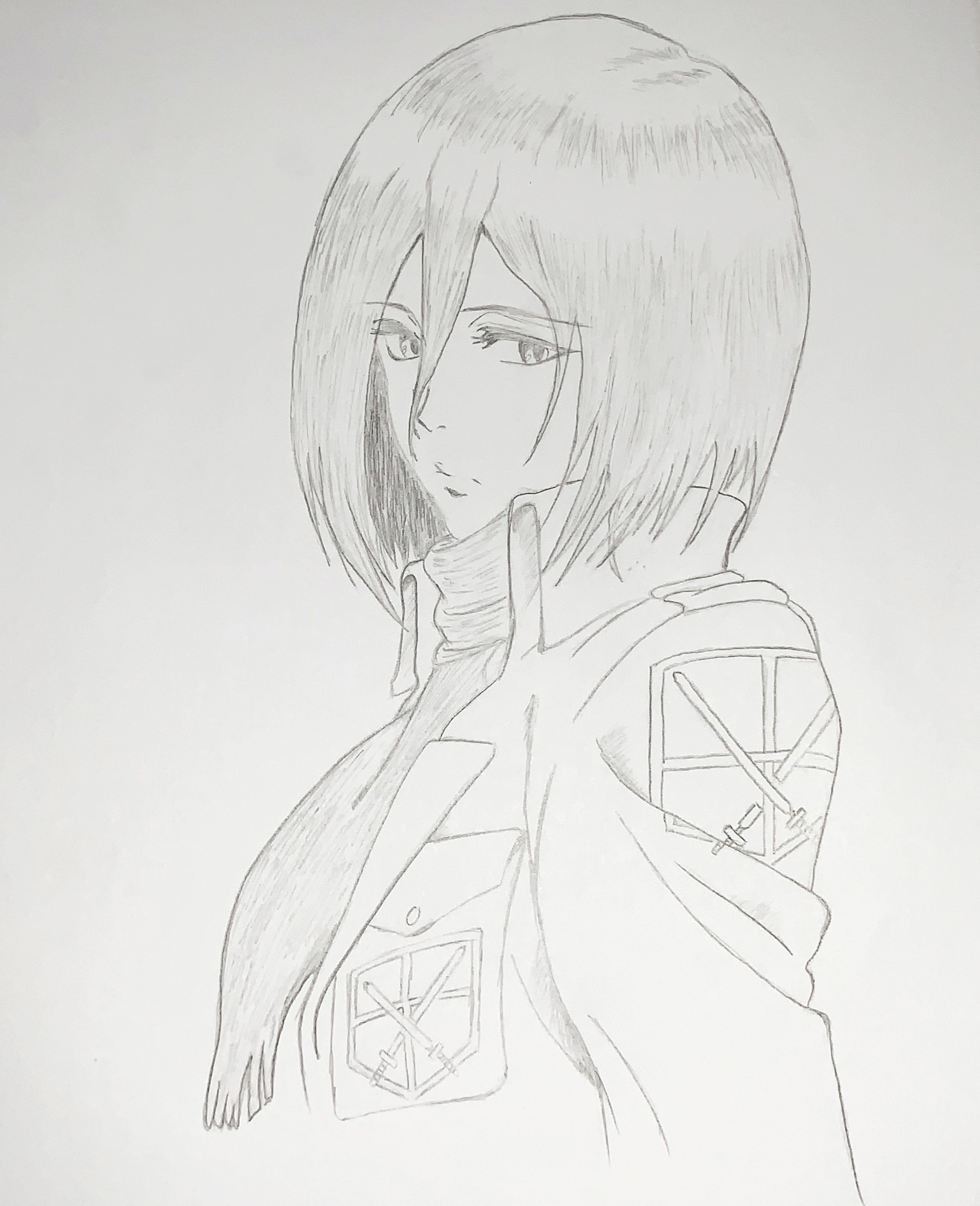 Mikasa Attack on Titan Anime drawing pencil Anime