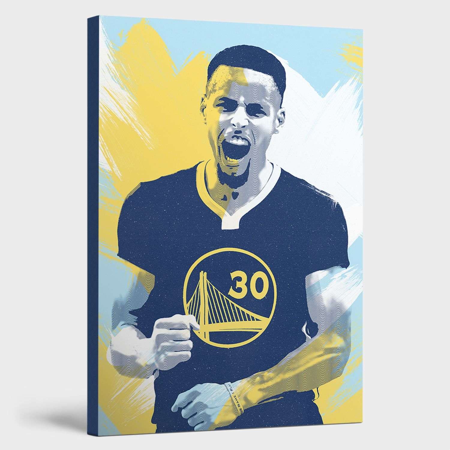 Steph Curry Canvas Print Canvas prints, Man cave wall