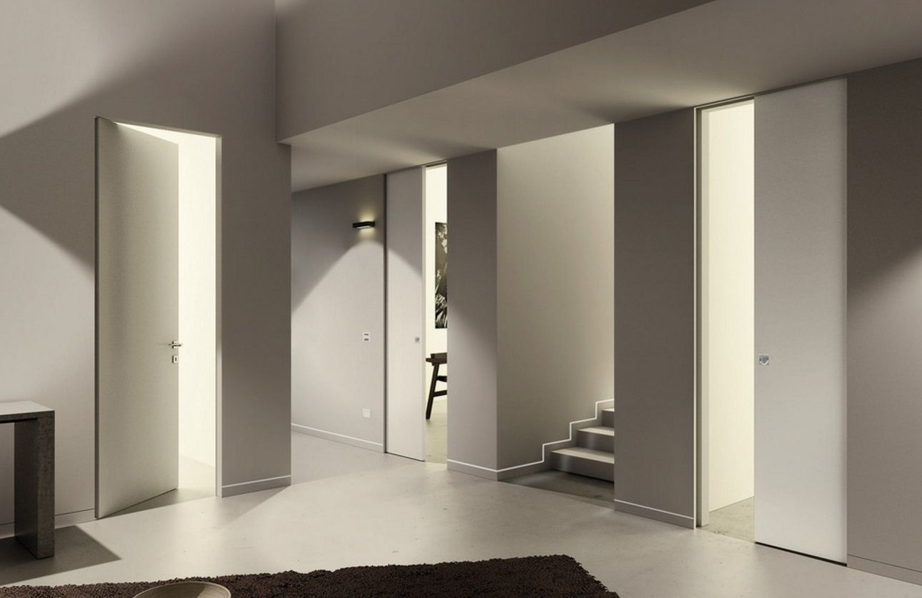 Contemporary Clean Lines Syntesis Pocket And Hinged Doors With