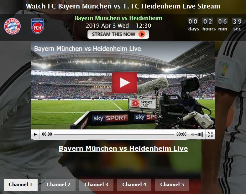 bayern münchen heidenheim live