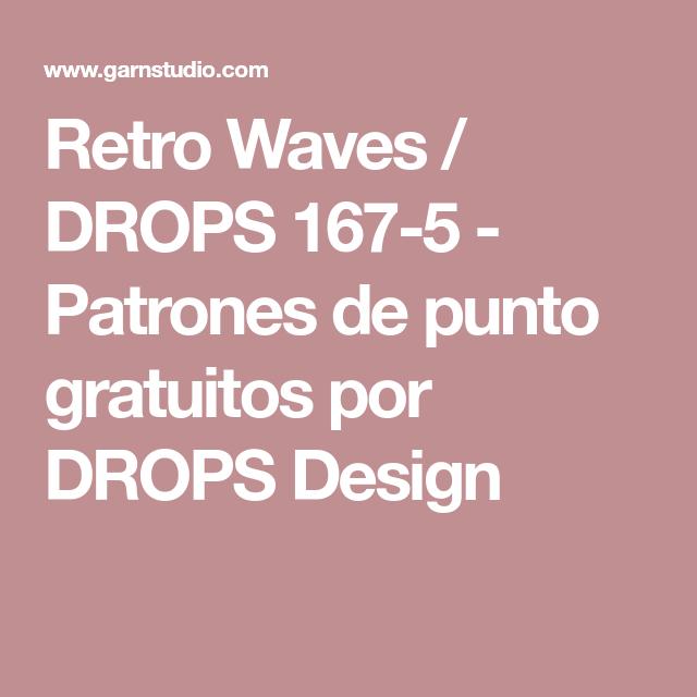 Retro Waves / DROPS 167-5 - Patrones de punto gratuitos por DROPS ...