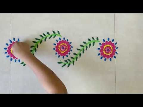 Simple And Beautiful Borderrangoli Designs Easy Kolam And Quick