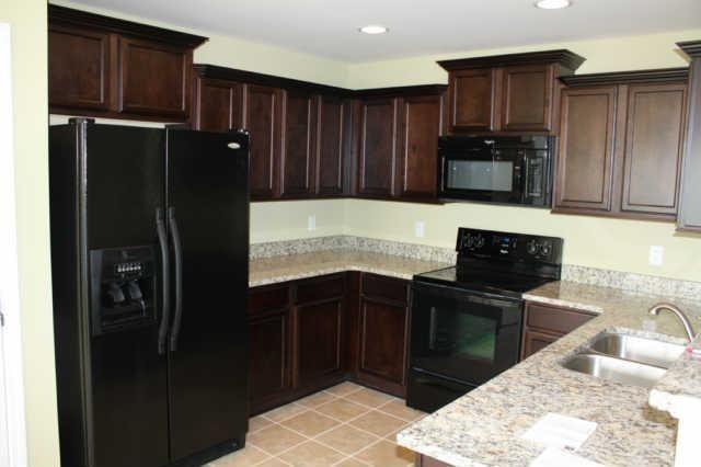 dark cabinets black appliances?   Condo   Pinterest