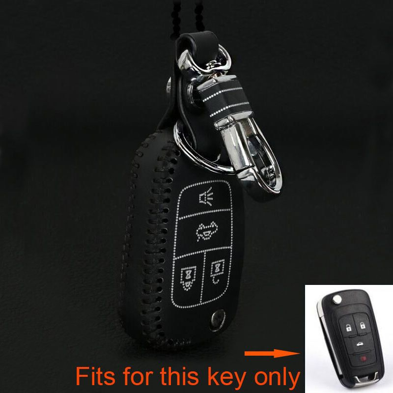 Bbqfuka 4buttons car remote flip folding key holder cover