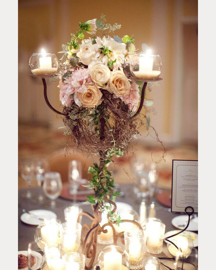Wedding Flowers Candelabra Wedding Wedding Flowers Wedding Centerpieces