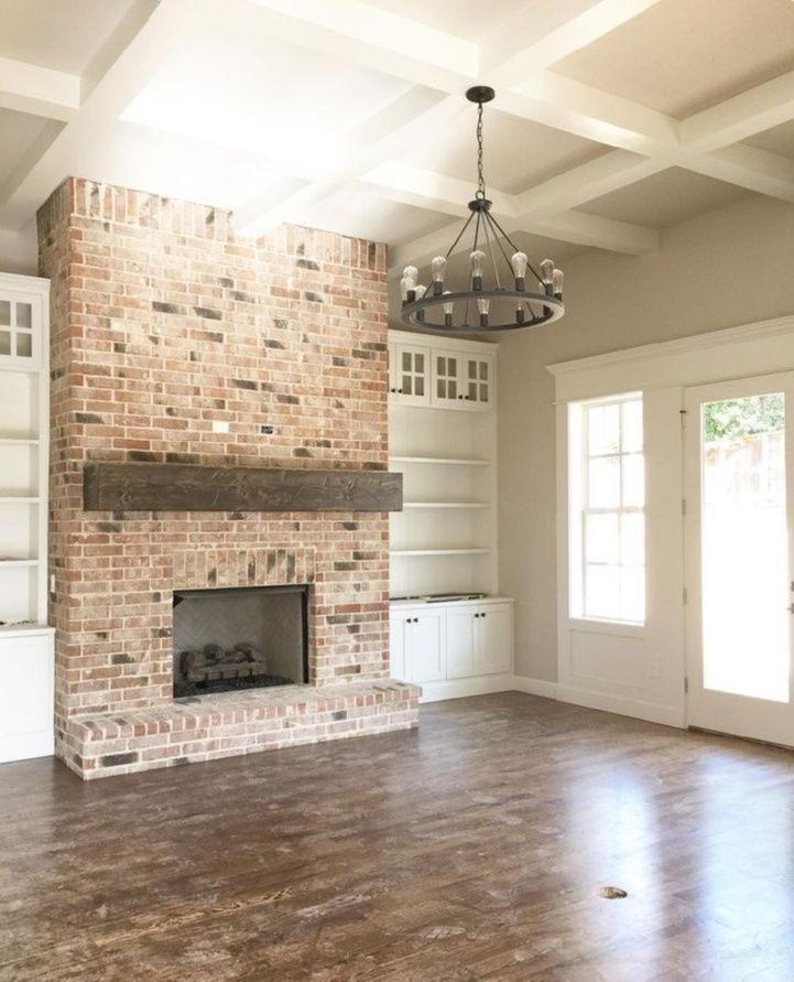 Pin For Later: FARMHOUSE FIREPLACE DECOR IDEAS. Mantle