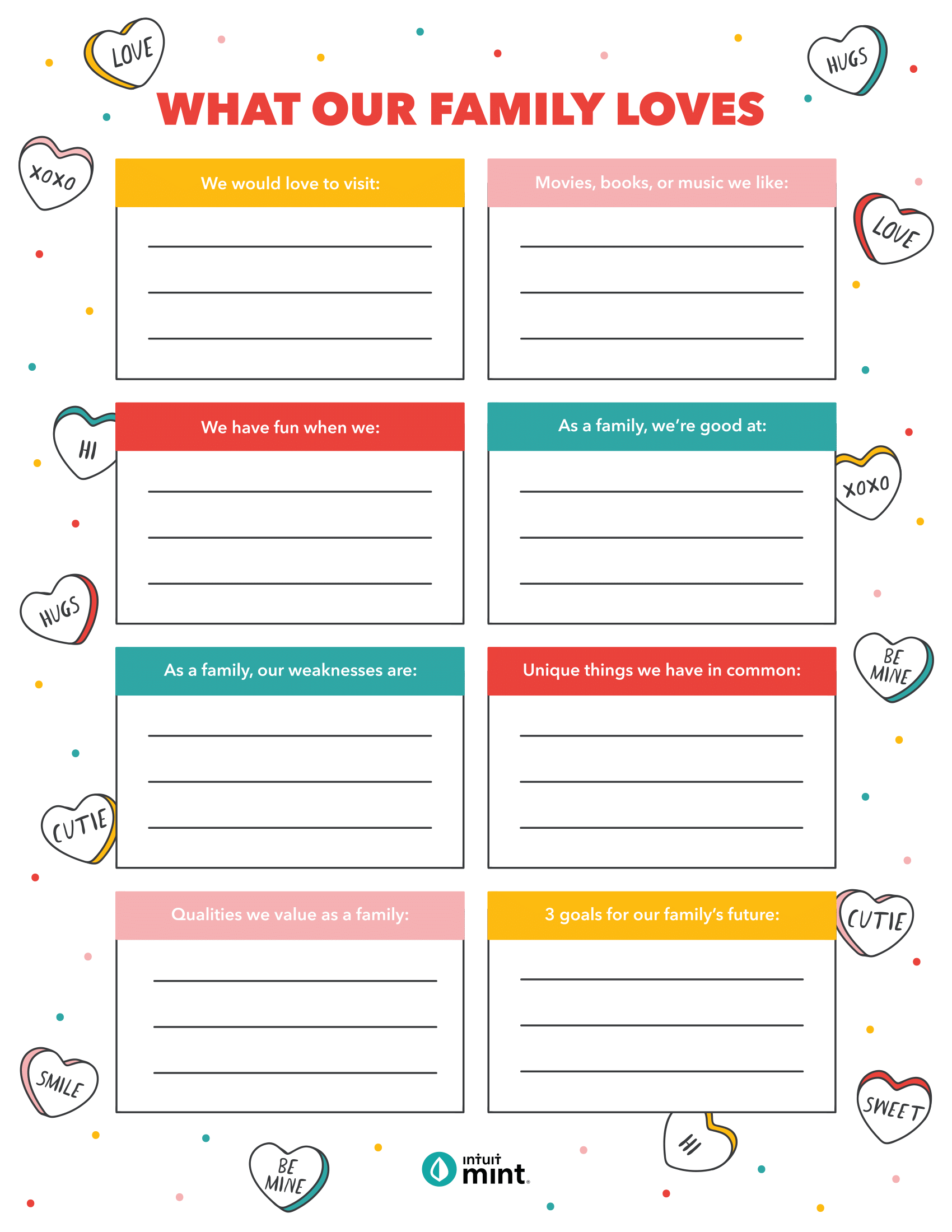 Family Fun Free Printable Valentine S With Mint In