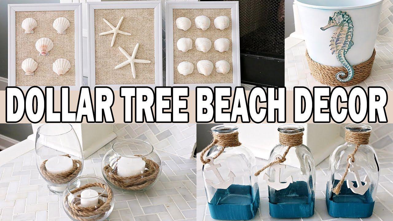 Dollar Tree Diy Coastal Beach Decor Gÿœs Nautical Decor Youtube