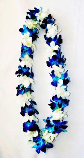 Blue And White Double Orchid Lei Flower Garland Wedding Indian Wedding Garland Candle Wedding Centerpieces