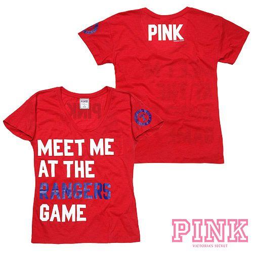 Cute Texas Rangers Victoria S Secret Pink Boyfriend Tee Mlb Com Shop White Sox Baseball Cool Shirts Yankees Fan